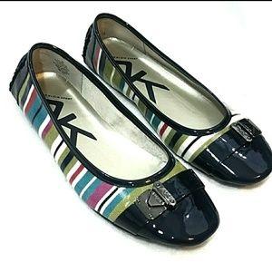 Blue moccassin loafer multi color Anne Klein Sport